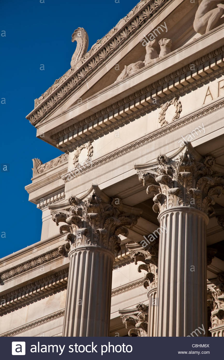 Le U.S. National Archives Building. Photo Stock