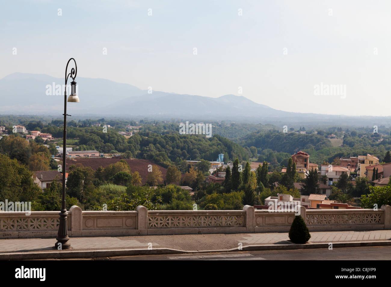 Vue sur les Apennins de Palestrina Photo Stock