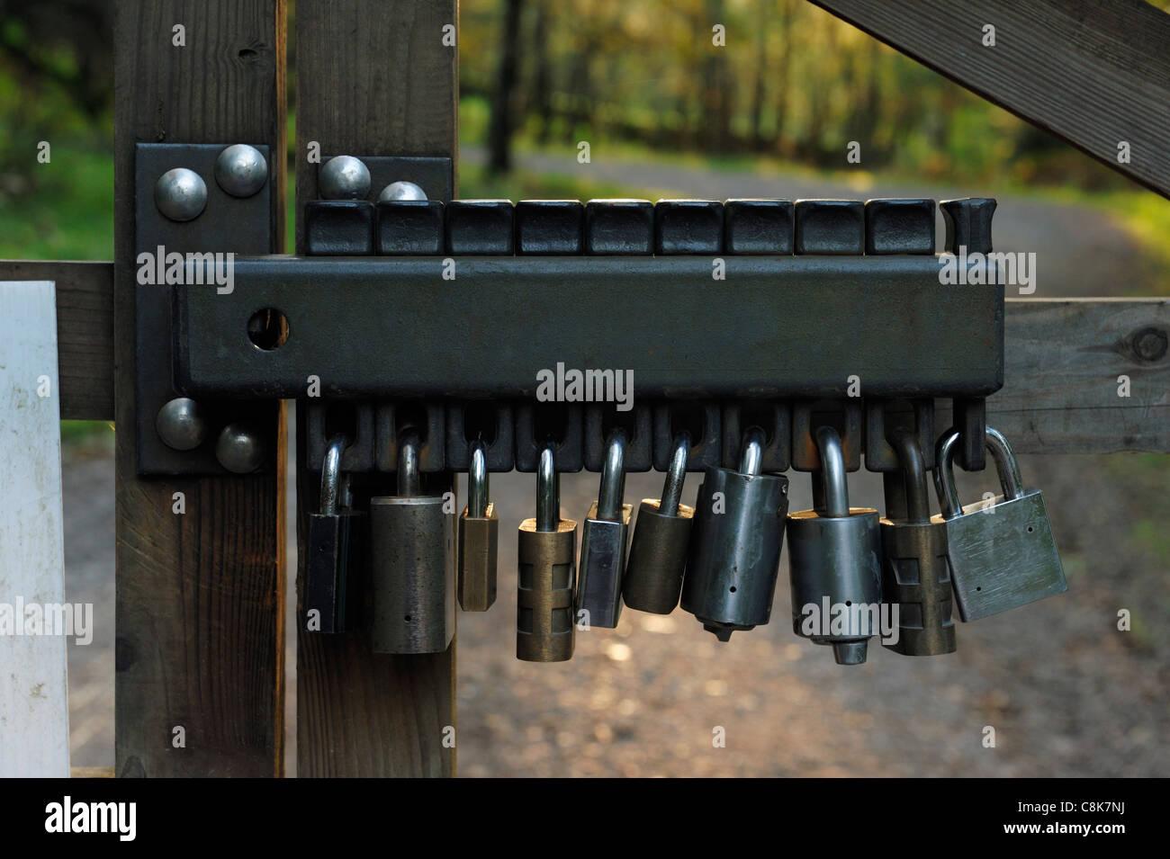 Concept de cadenassage cadenas Photo Stock