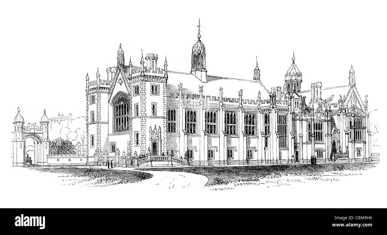 L'Honorable Société Lincoln's Inn quatre Inns of Court Londres avocat Lincoln de Lacy Holborn Photo Stock