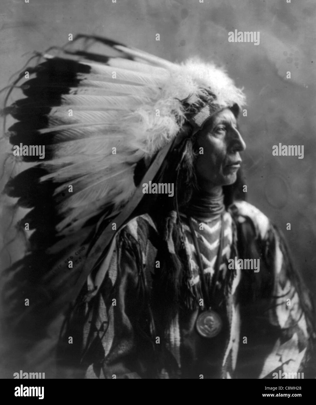 Jack Red Cloud, chef indien Photo Stock