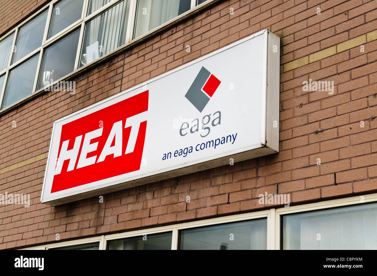 La chaleur, une base de Belfast chauffage et ventilation d'installation. Photo Stock