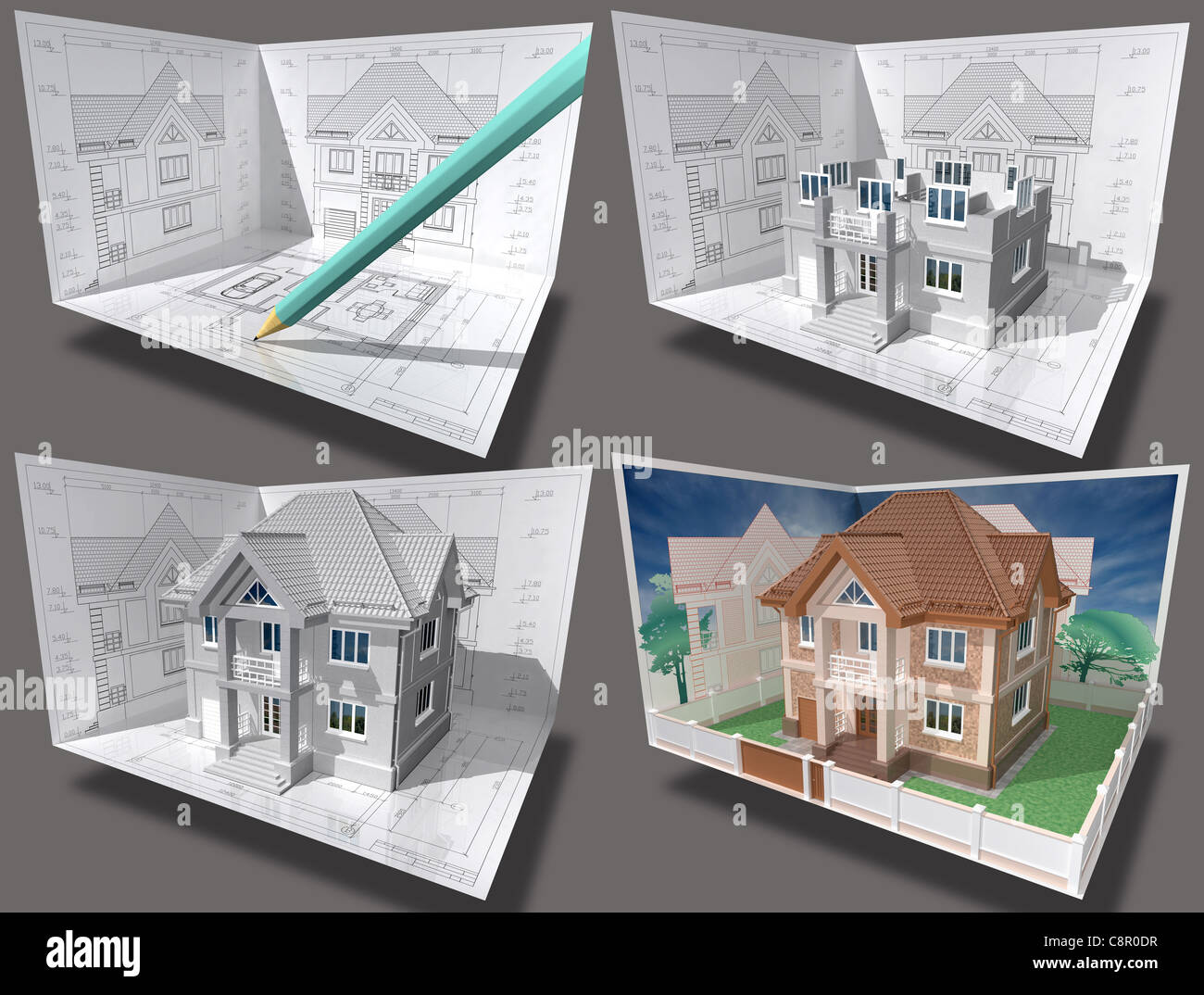 Chalet En Construction Vue En 3d Isométrique D Une Maison D