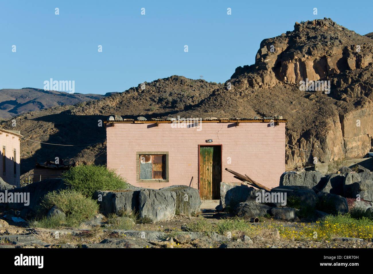 Maison des travailleurs agricoles en Namibie Noordoewer Photo Stock
