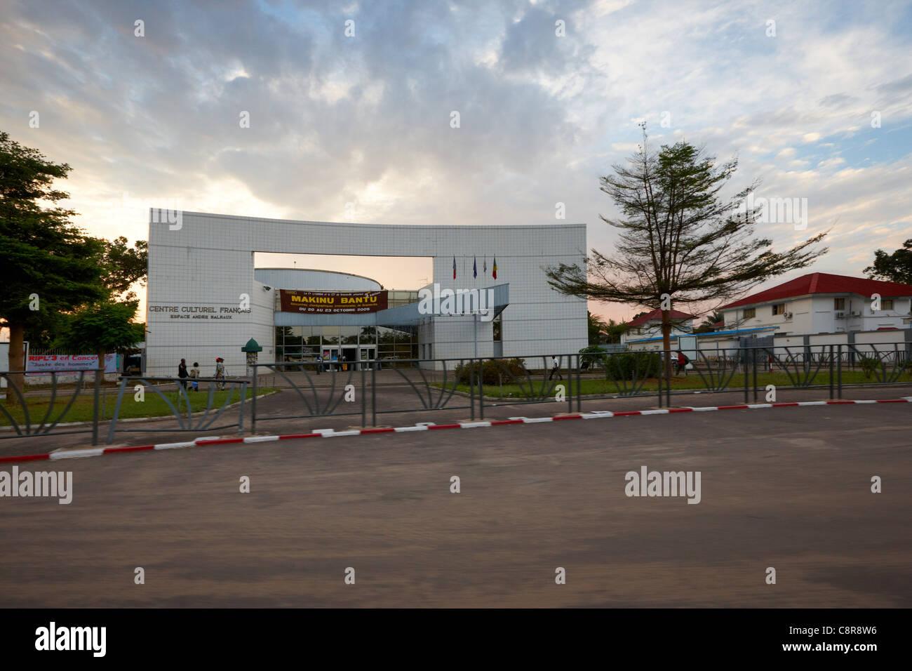 Centre culturel français (Institut français du Congo) conçu par Olivier Cacoub, Brazzaville, République Photo Stock
