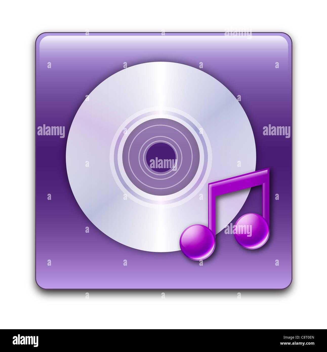 Illustration de l'icône Musique Photo Stock
