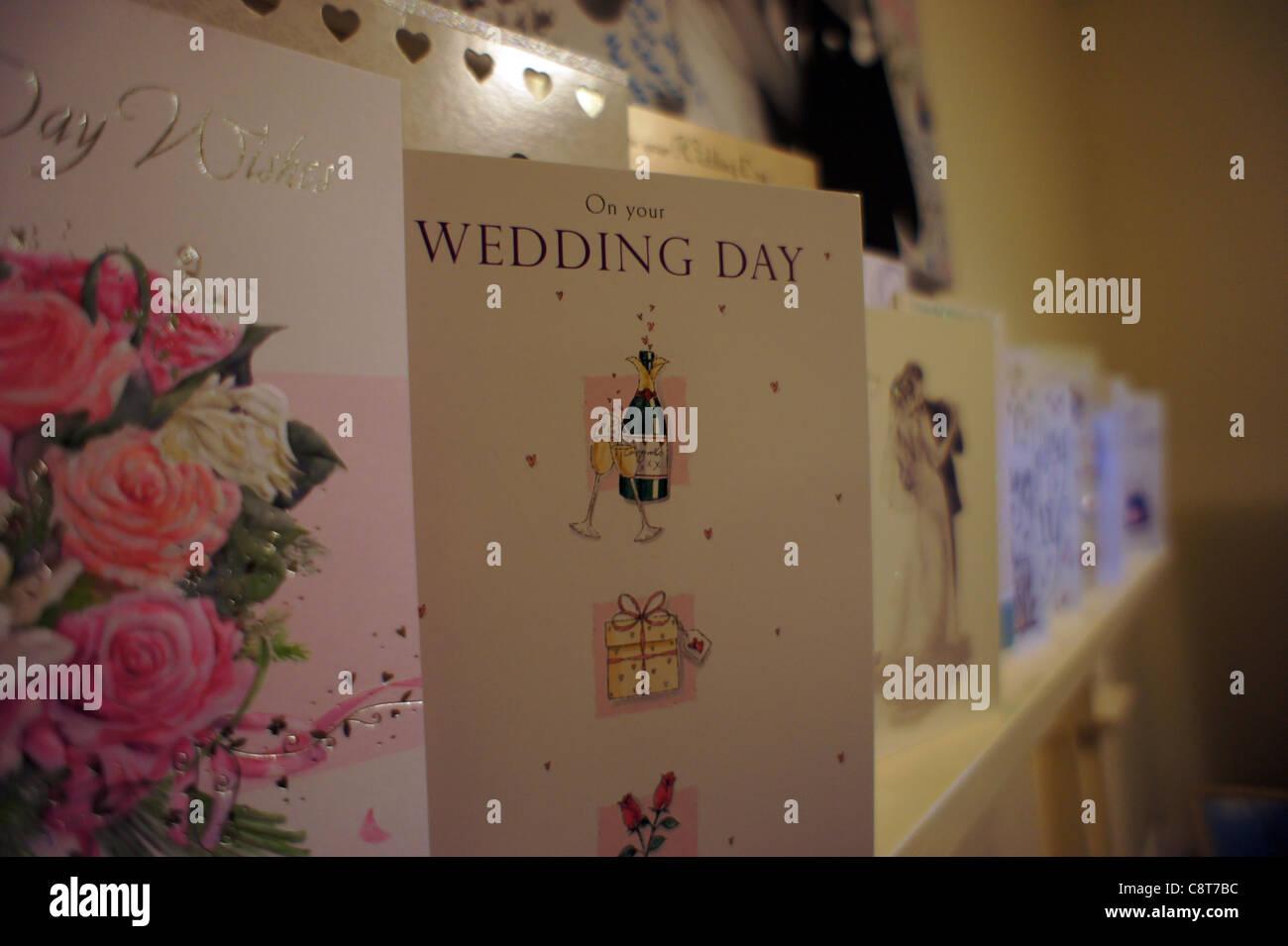 Une carte de jour de Mariage Photo Stock