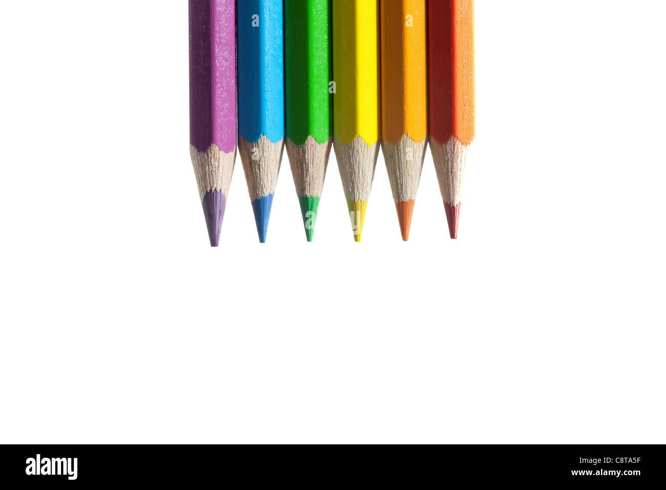 Crayon de couleur Multi Photo Stock