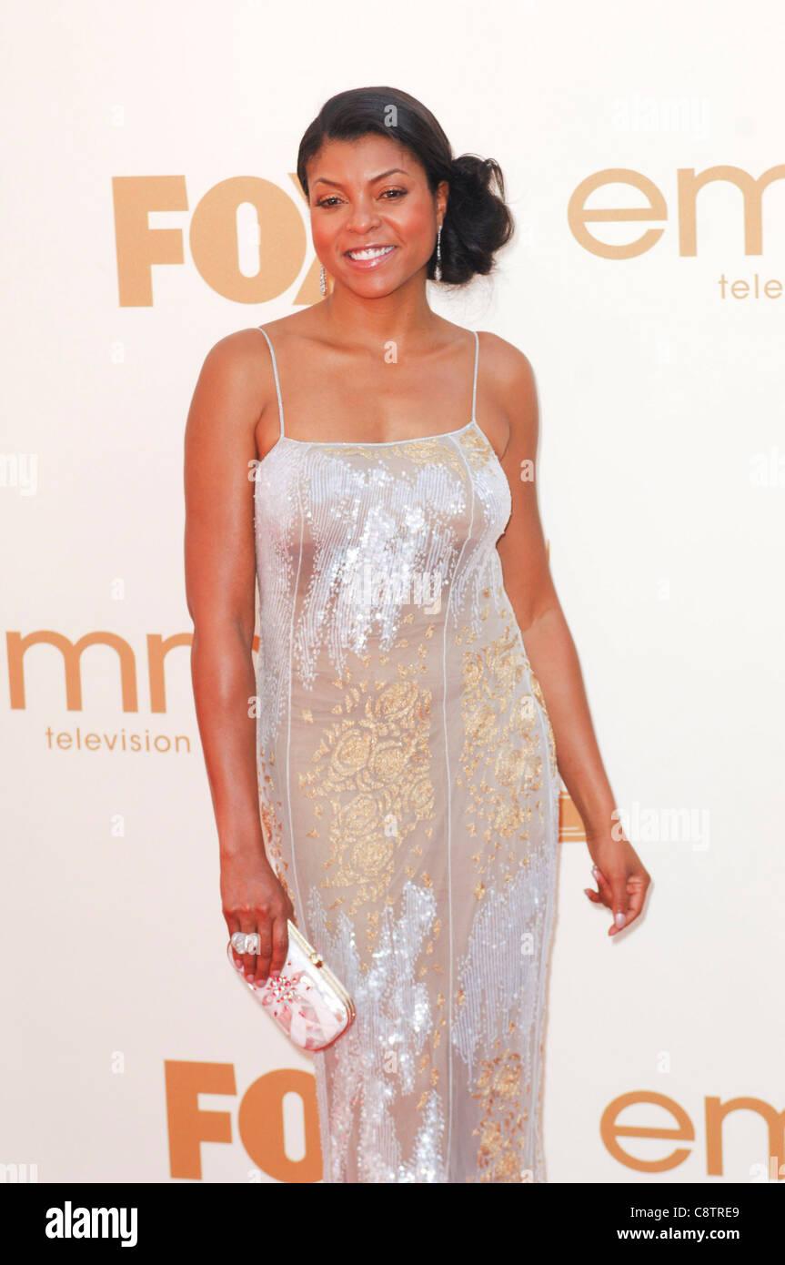 Taraji P. Henson aux arrivées pour la 63e Primetime Emmy Awards - Arrivals 2, Nokia Theatre à Los Angeles. Photo Stock