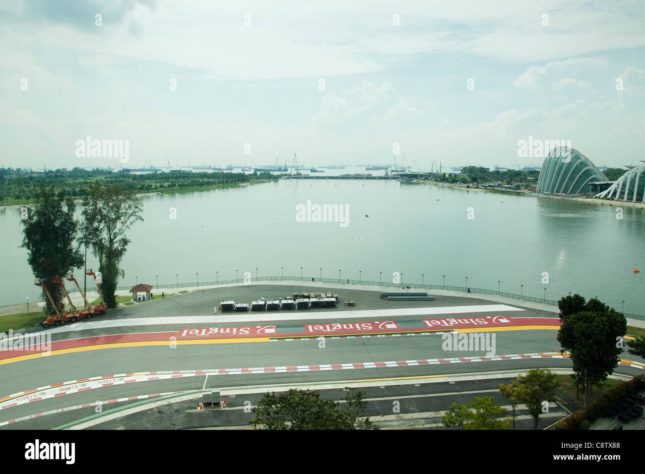 Singapour Formule 1/F1 race track. Banque D'Images