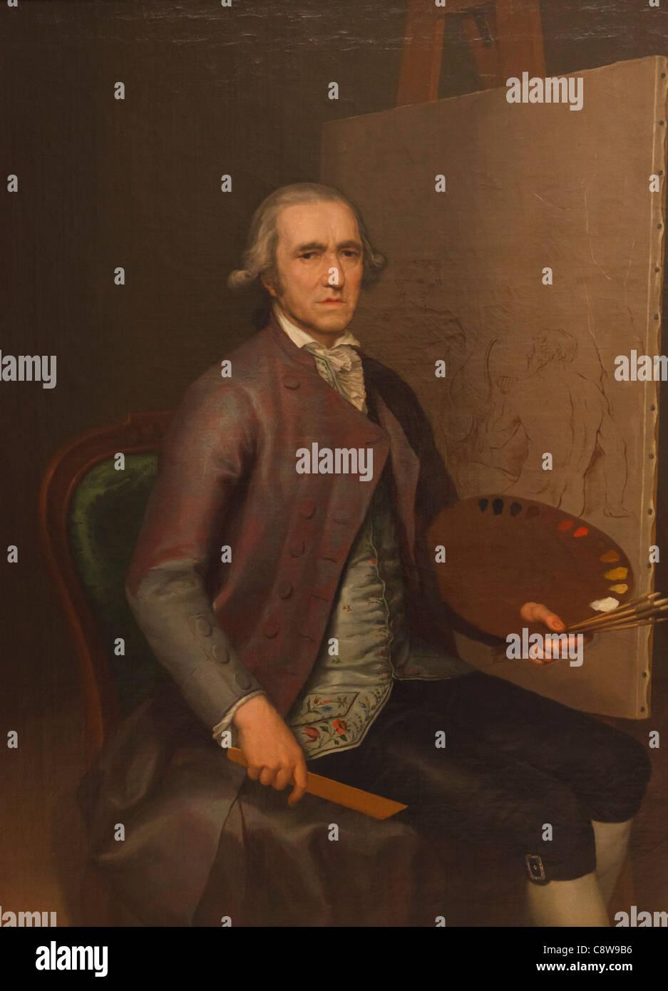 Francisco Bayeu y Subias, 1734 -1795. Peintre de la Cour à Carlos III d'Espagne et beau-frère de Francisco Photo Stock