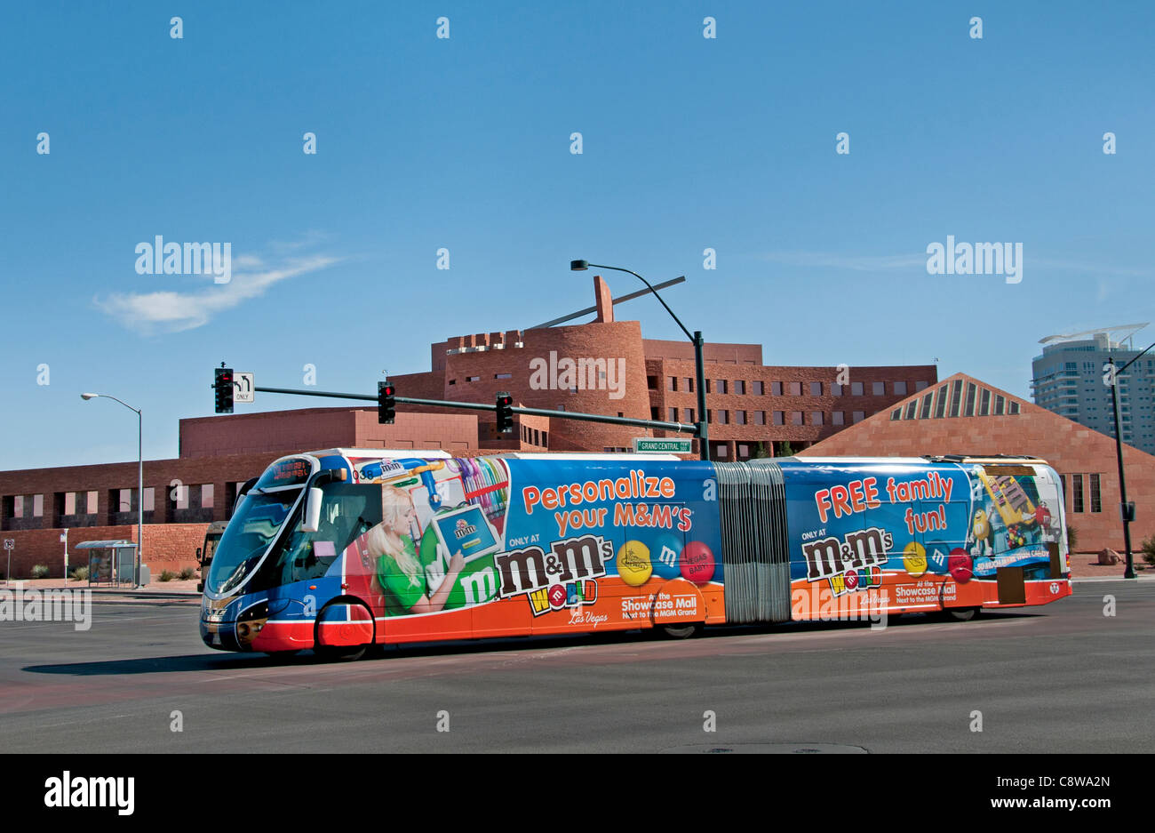 Las Vegas Clark County Government Center United States Nevada, le transport public local bus Photo Stock