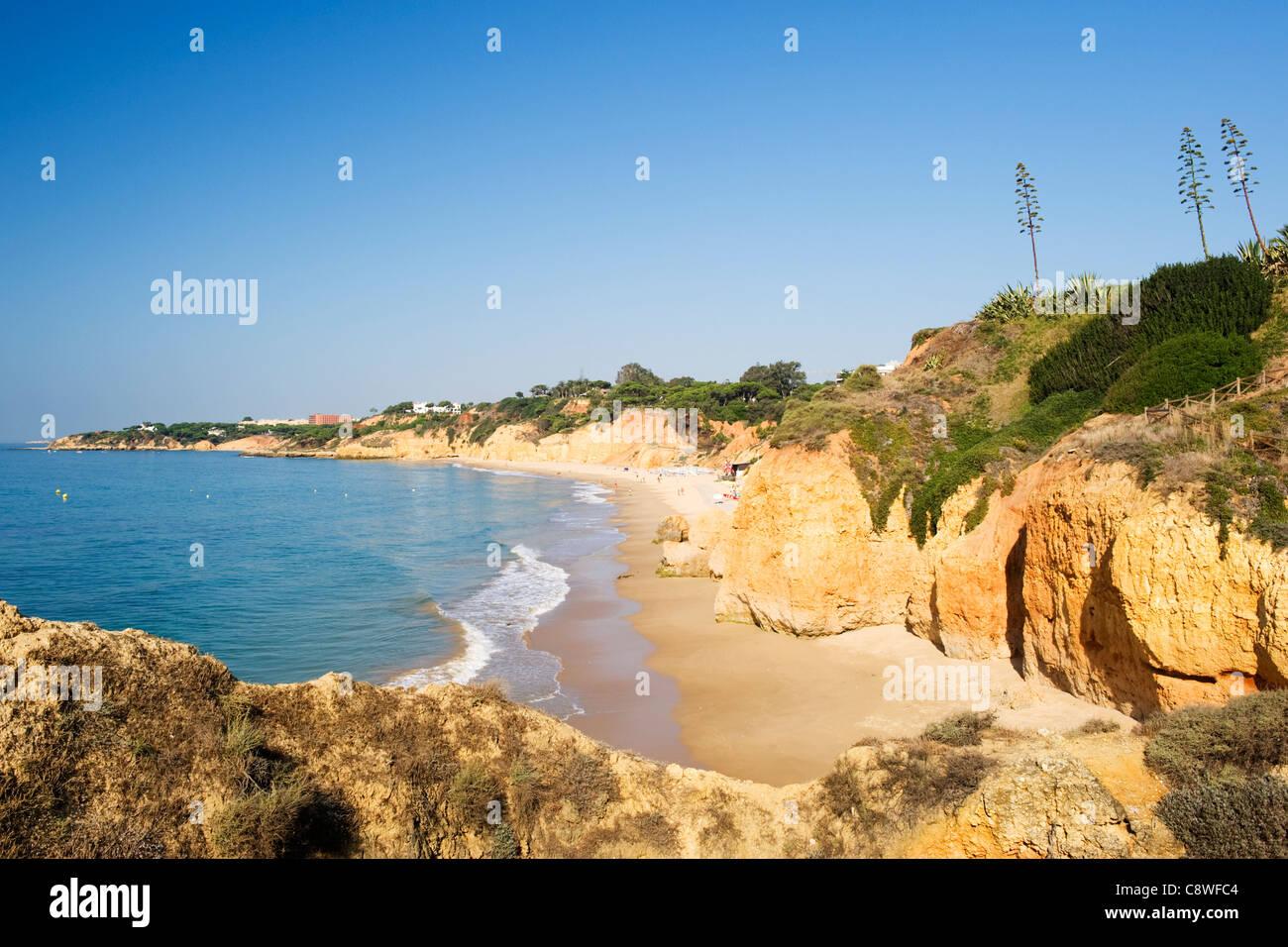 Portugal Algarve Albufeira Club Med Da Balaia seascape falaises de sable de  plage vagues rochers tombés dd586faedae6