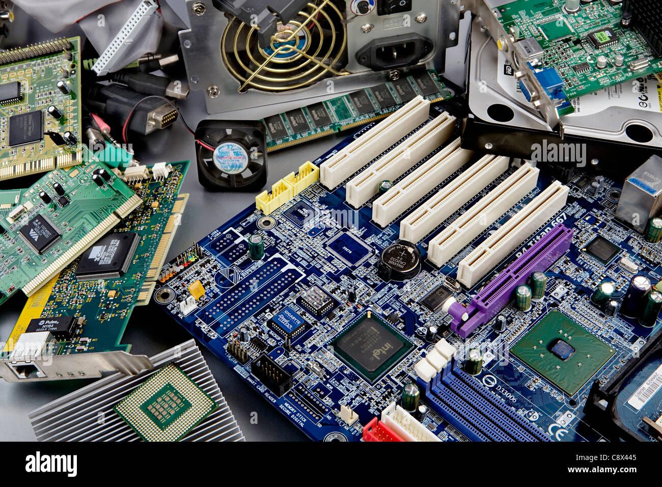 Les composants de l'ordinateur Photo Stock