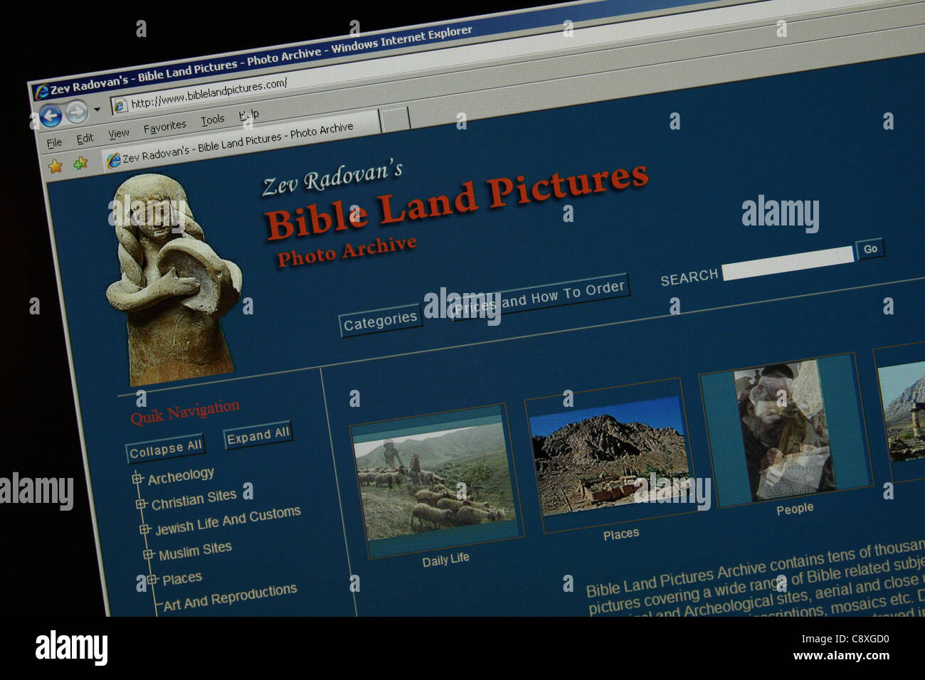 Photos des terres de la bible Photo Stock