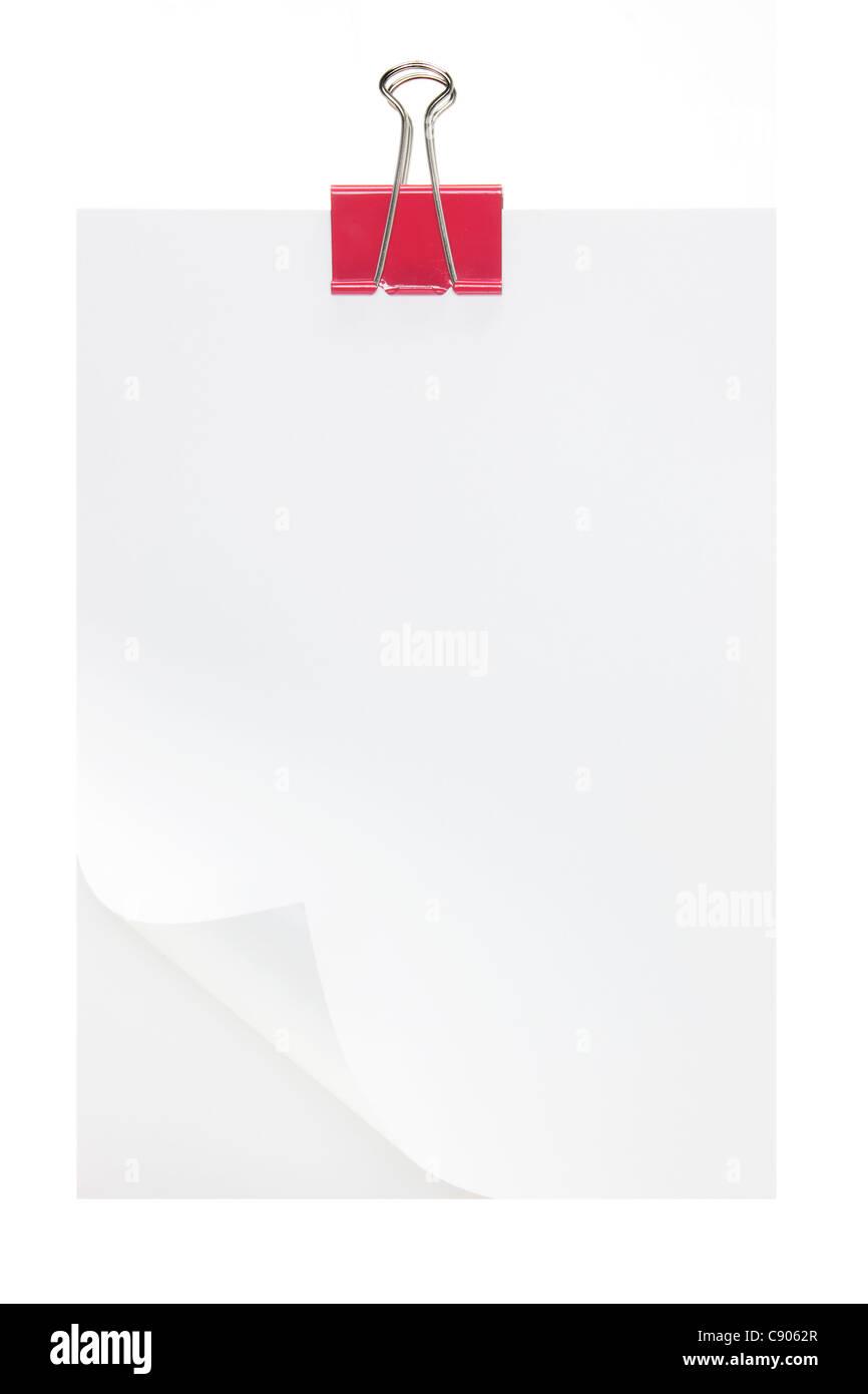 Papier blanc Photo Stock