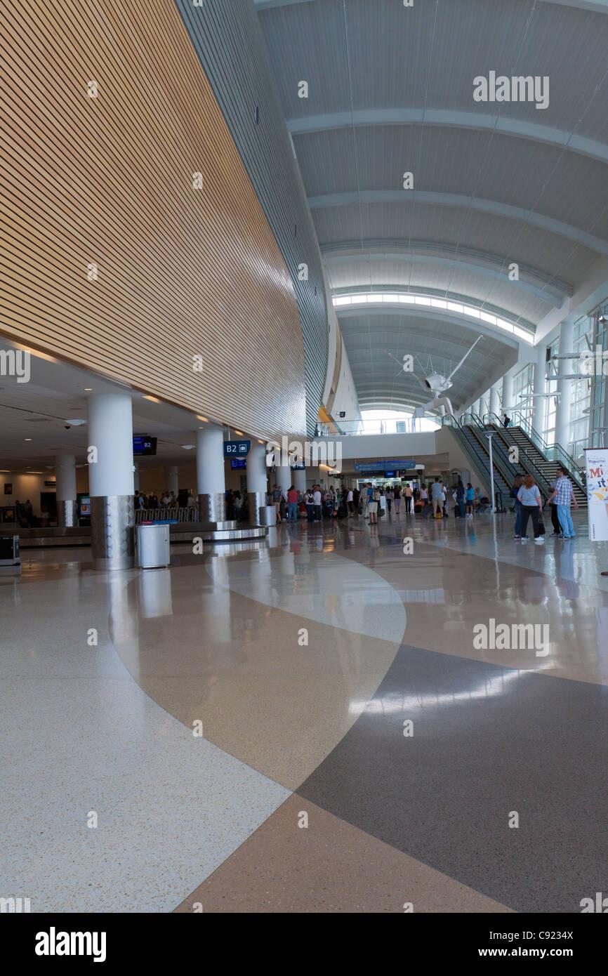 Zone de réclamation des bagages de l'Aéroport International de San Jose en Californie Photo Stock