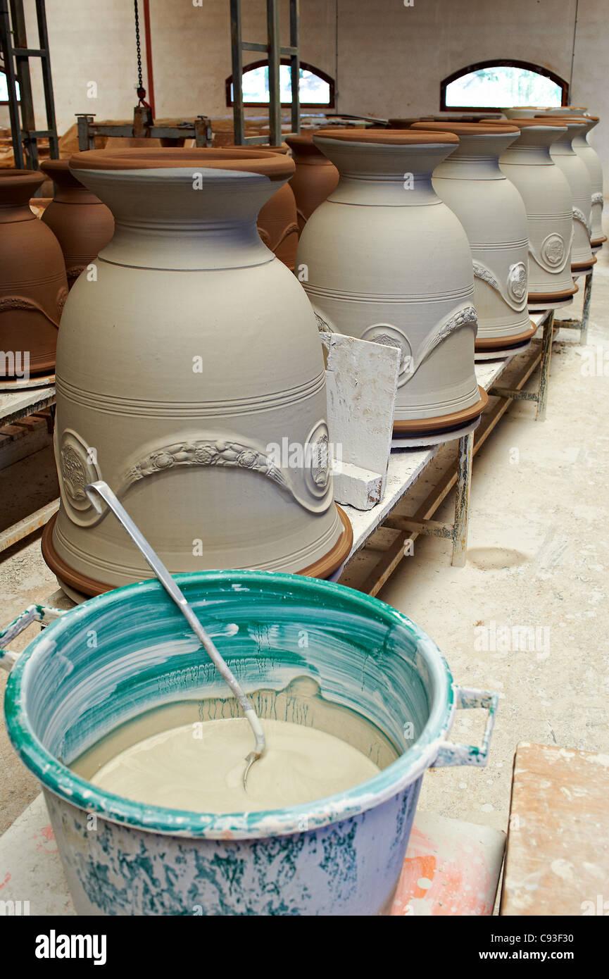 Vase d'Anduze, de l'artisanat en France. Banque D'Images