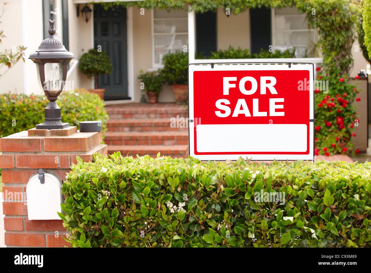 Maison à vendre Photo Stock
