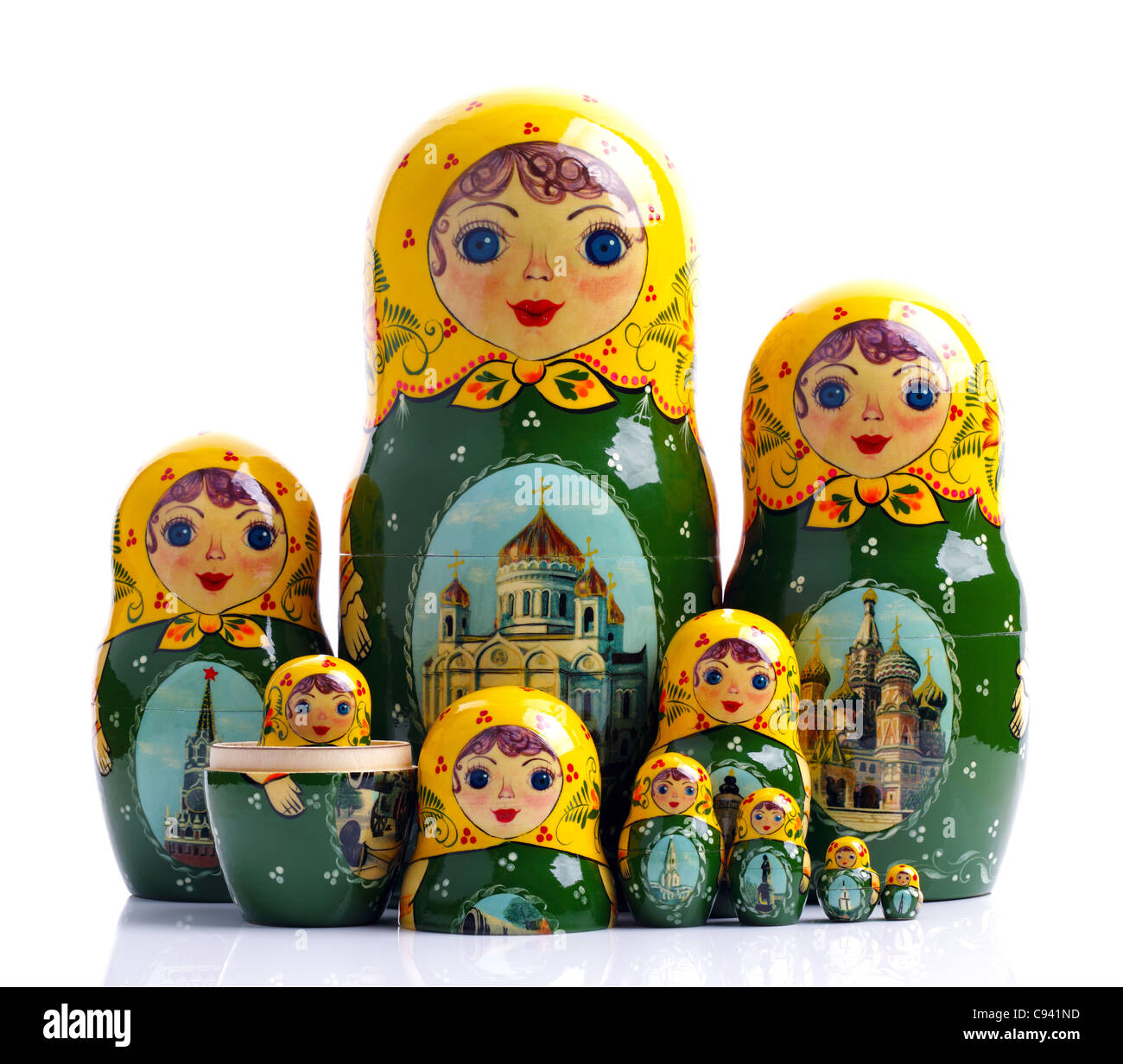 Matriochkas - poupées imbriquées russe Photo Stock