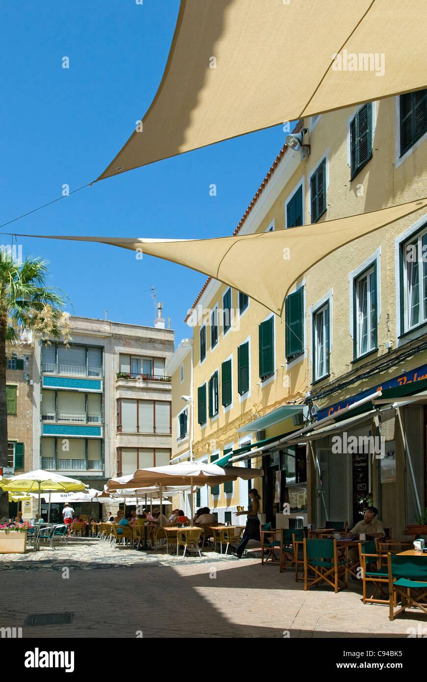 Cafés Mahon Menorca Baléares Espagne Photo Stock
