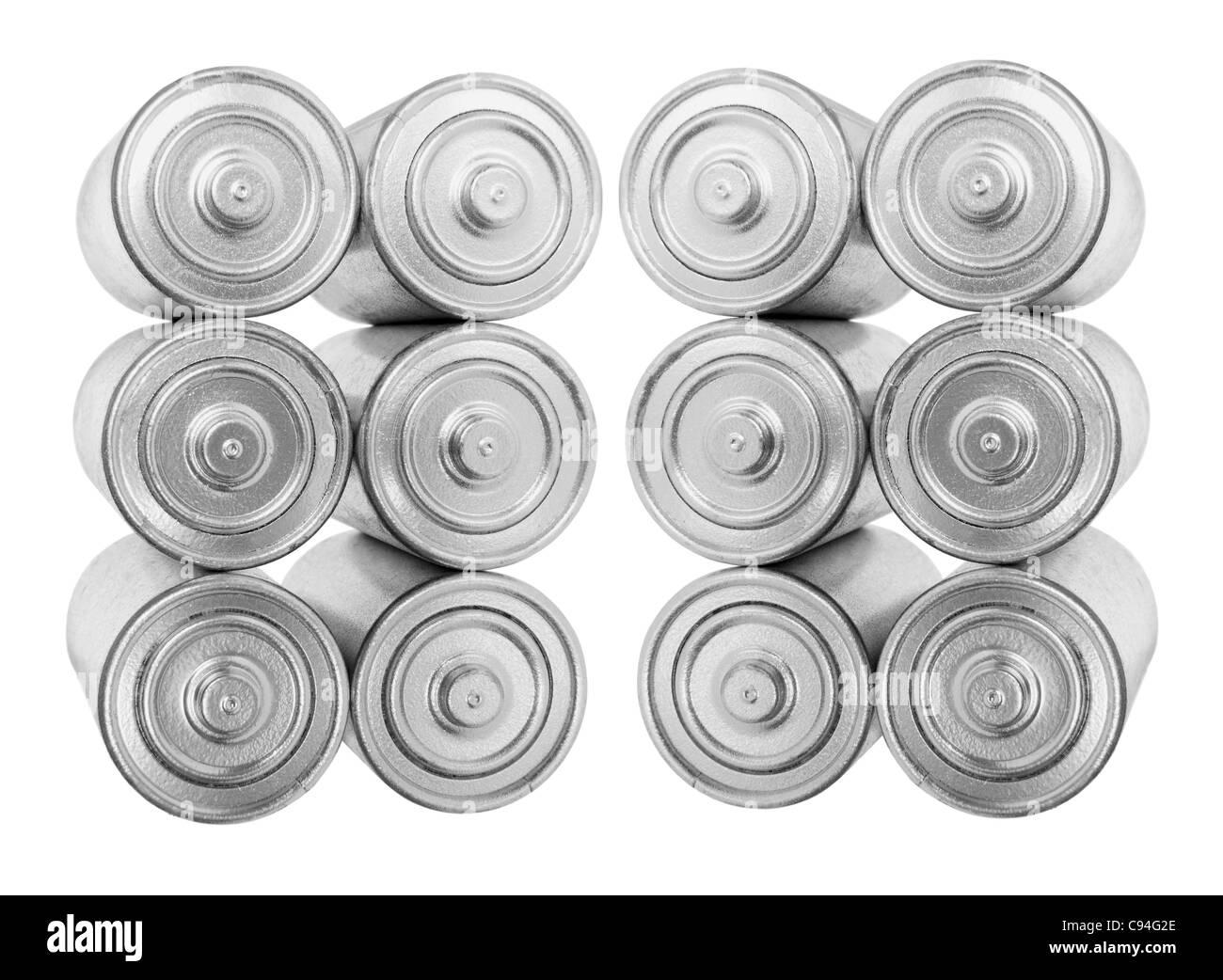 Les batteries de piles Photo Stock