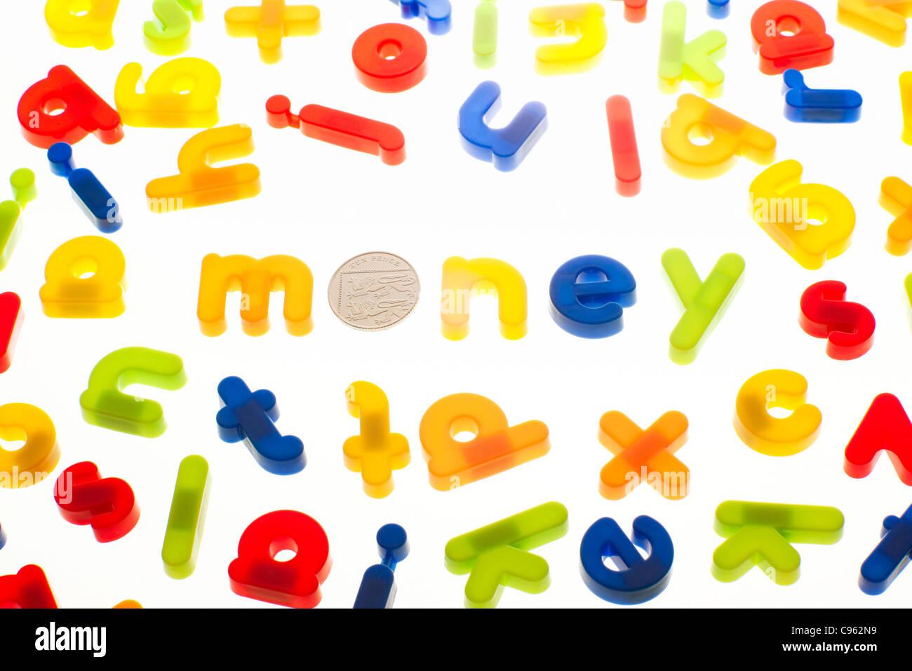 L'argent, de l'image conceptuelle. Photo Stock