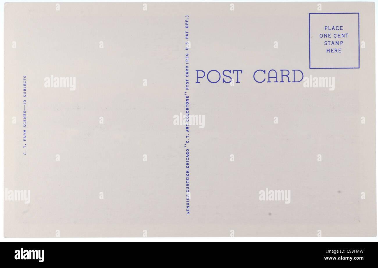 Carte postale vintage vierge de début au milieu des années 1900 avec copyspace Photo Stock