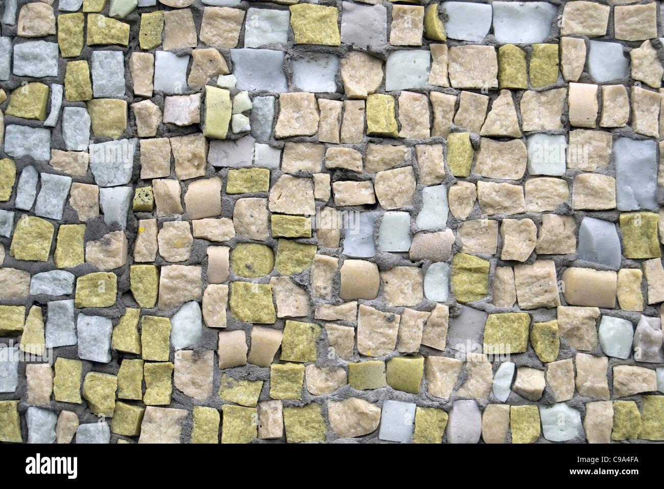 mosaïque de près Photo Stock