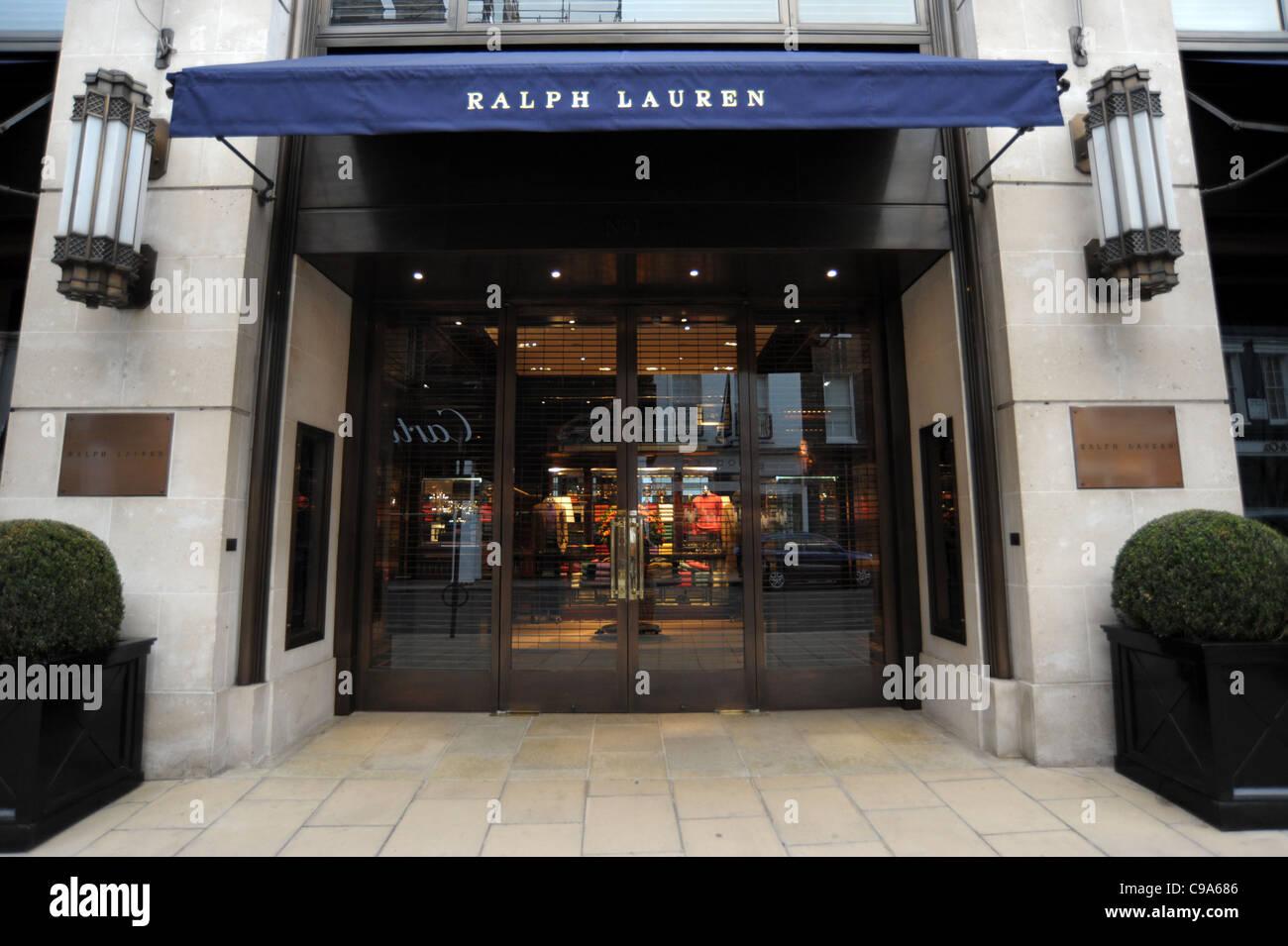 Photo de l extérieur du magasin Ralph Lauren sur Bond Street à Londres  Angleterre 2011 78e646a1c32