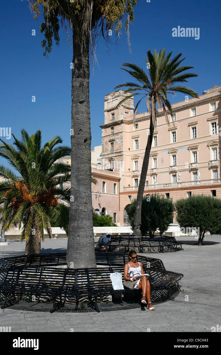 Bastione di San Remy, Cagliari, Sardaigne, Italie. Photo Stock