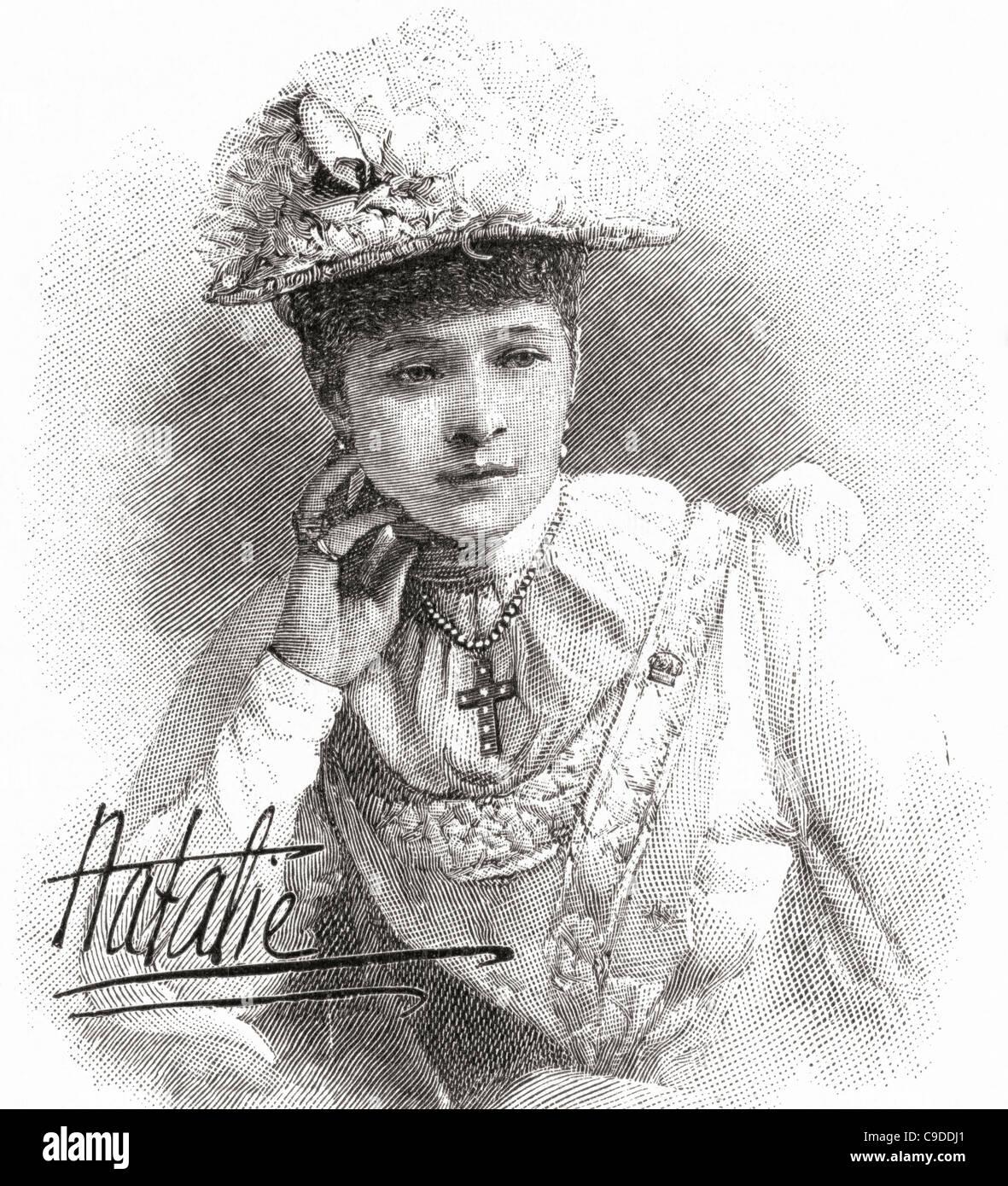 Natalia Janotha, 20 ans, 1856 - 1932. Pianiste et compositeur polonais. Photo Stock