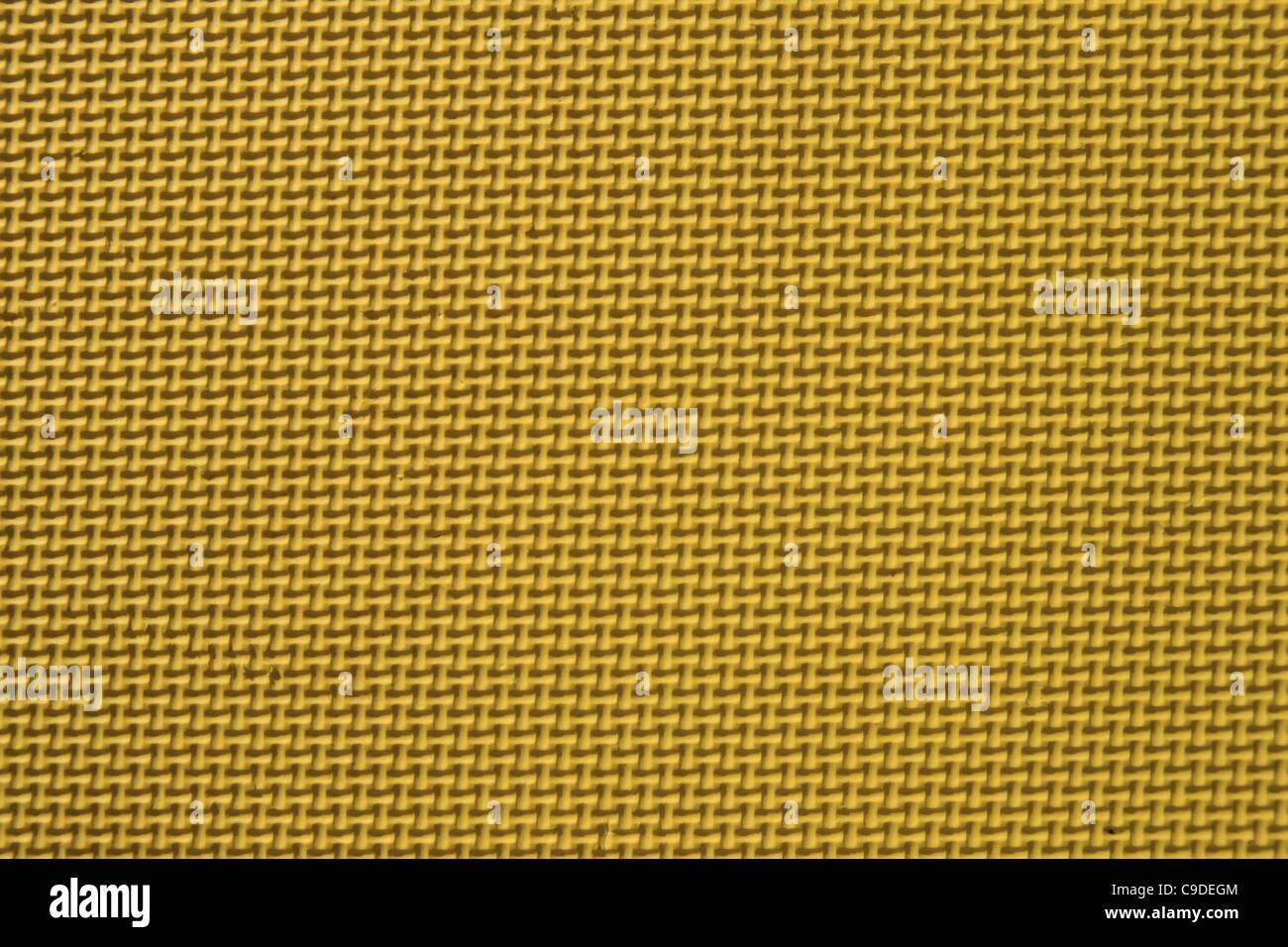 Close up detail de tapis texturé jaune Banque D'Images