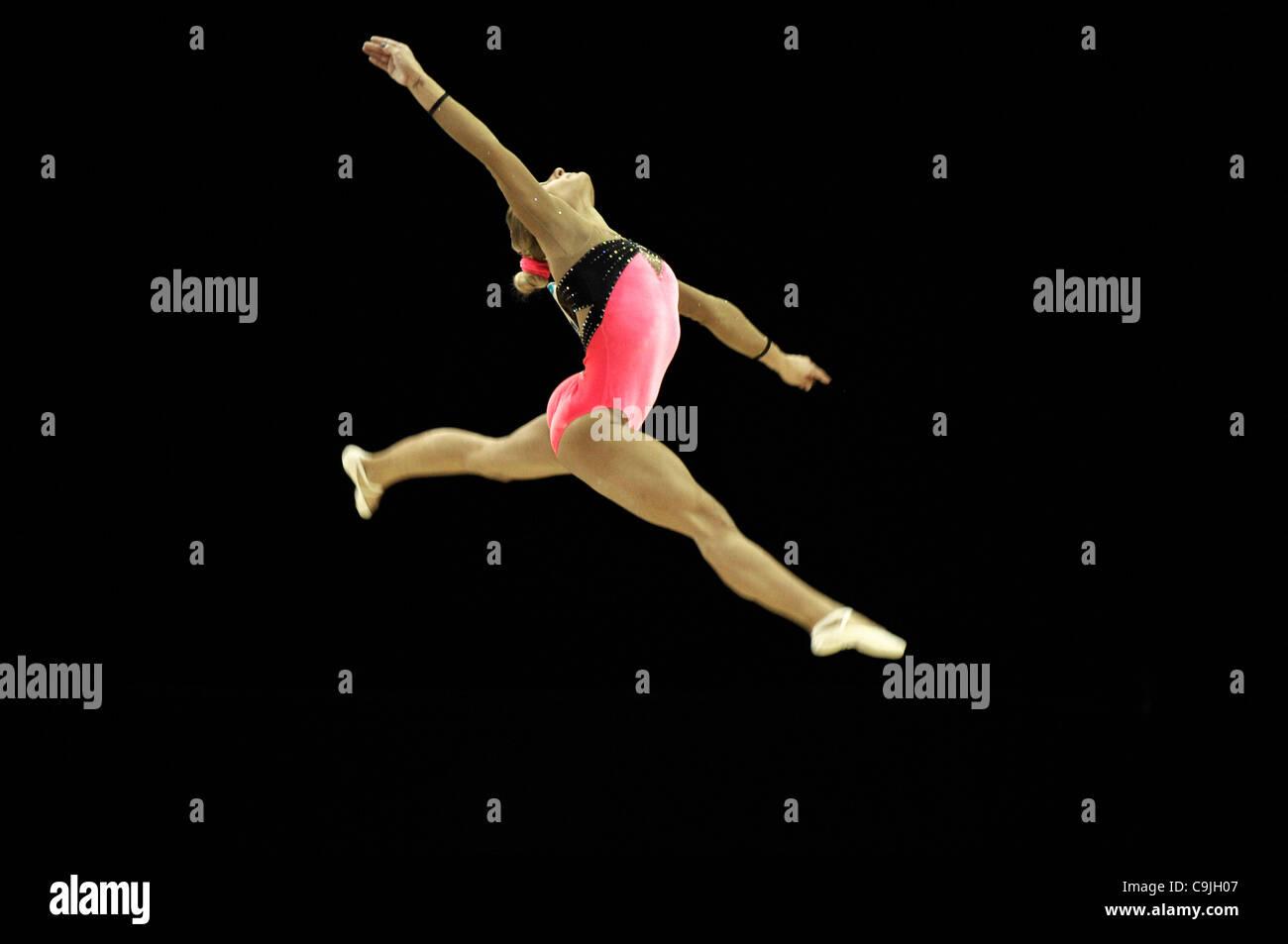 13.01.2012 Londres prépare la gymnastique olympique série événement de test North Greenwich Photo Stock