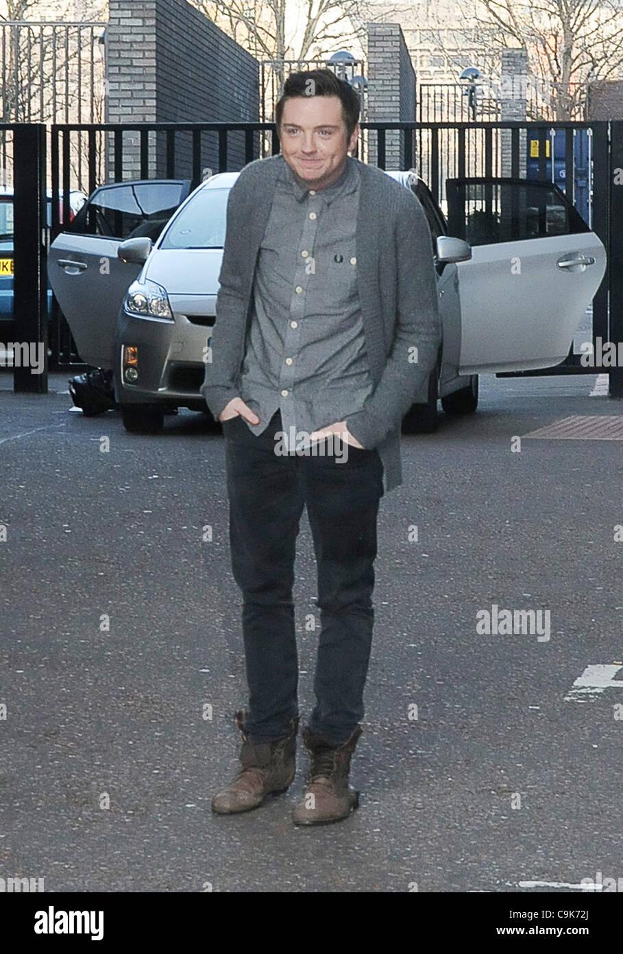 London, UK, 17/01/2012 Graig Gazey est considéré à l'ITV studios à Londres. (Crédit Photo Stock