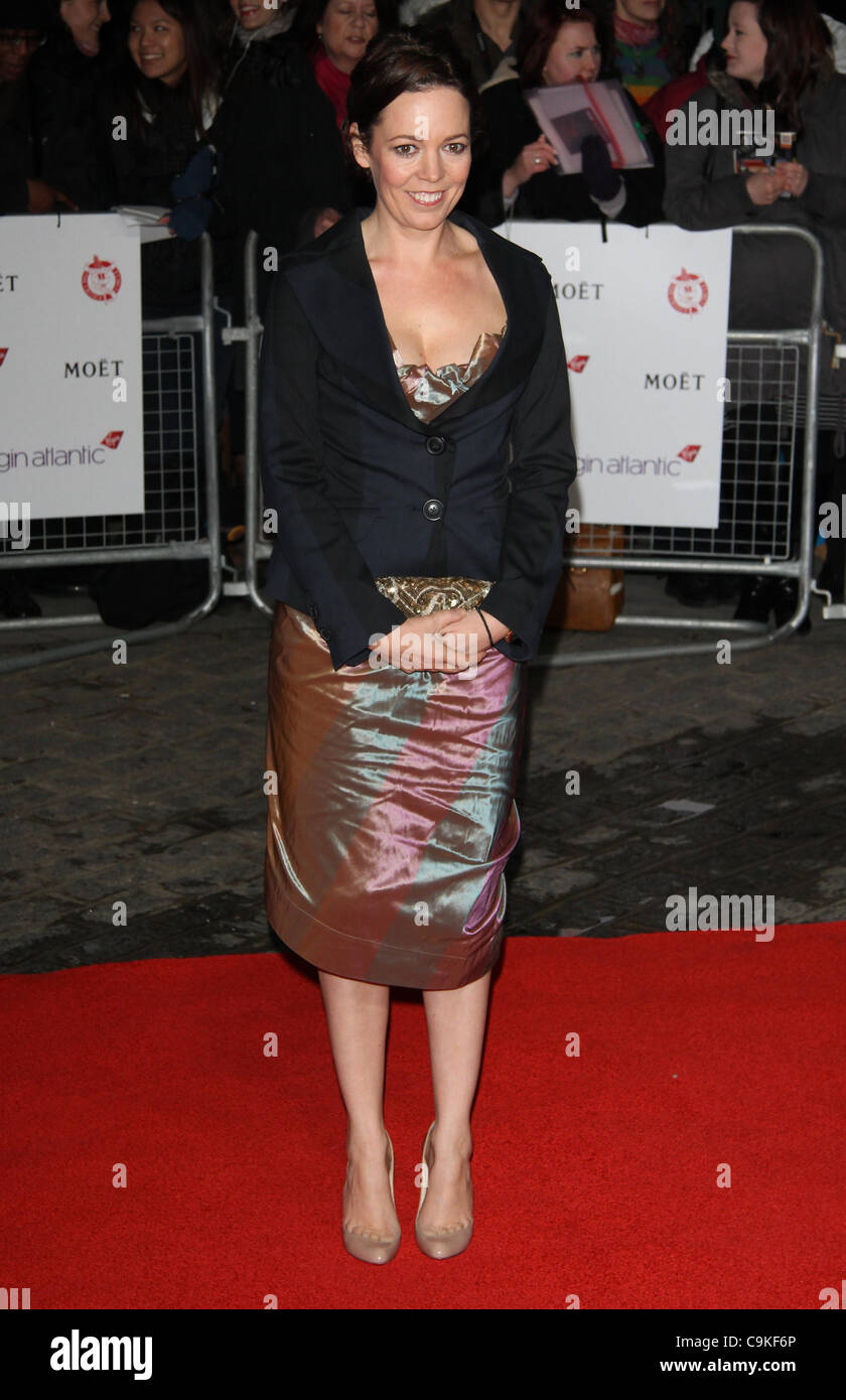London, UK, 19/01/2012 Quelqu'un arrive pour la London Film Critics' Circle Awards at the bfi à Londres.(Image Photo Stock