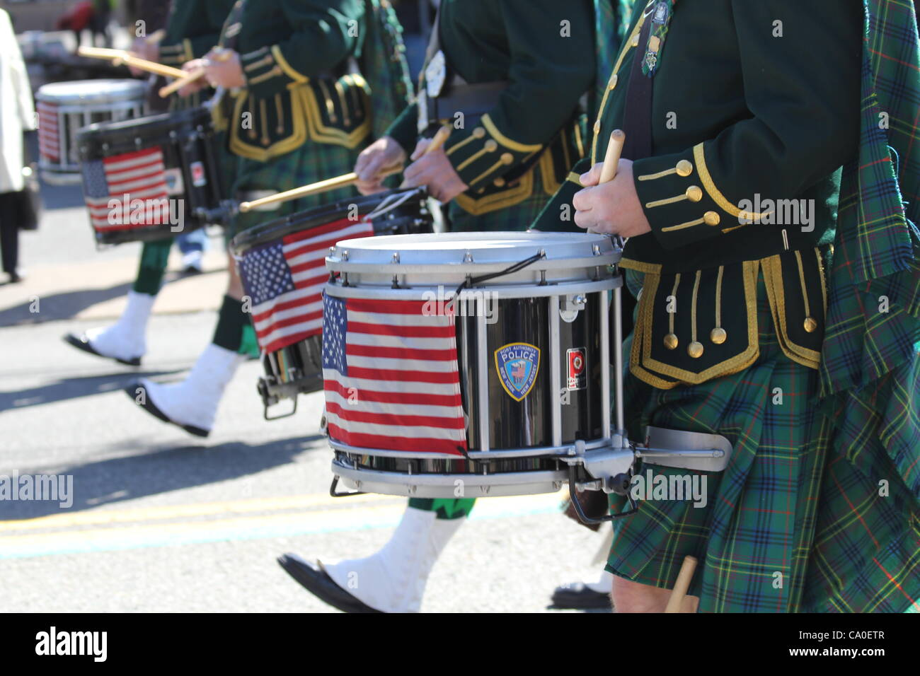 St.Patrick's Day 2012 West Orange, New Jersey USA Mars 11th, 2012 Banque D'Images