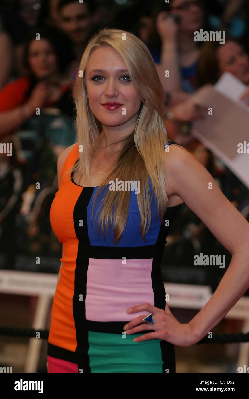 Emily assiste à la tête d'Avengers Assemble - UK film première mondiale à la vue, Westfield Photo Stock