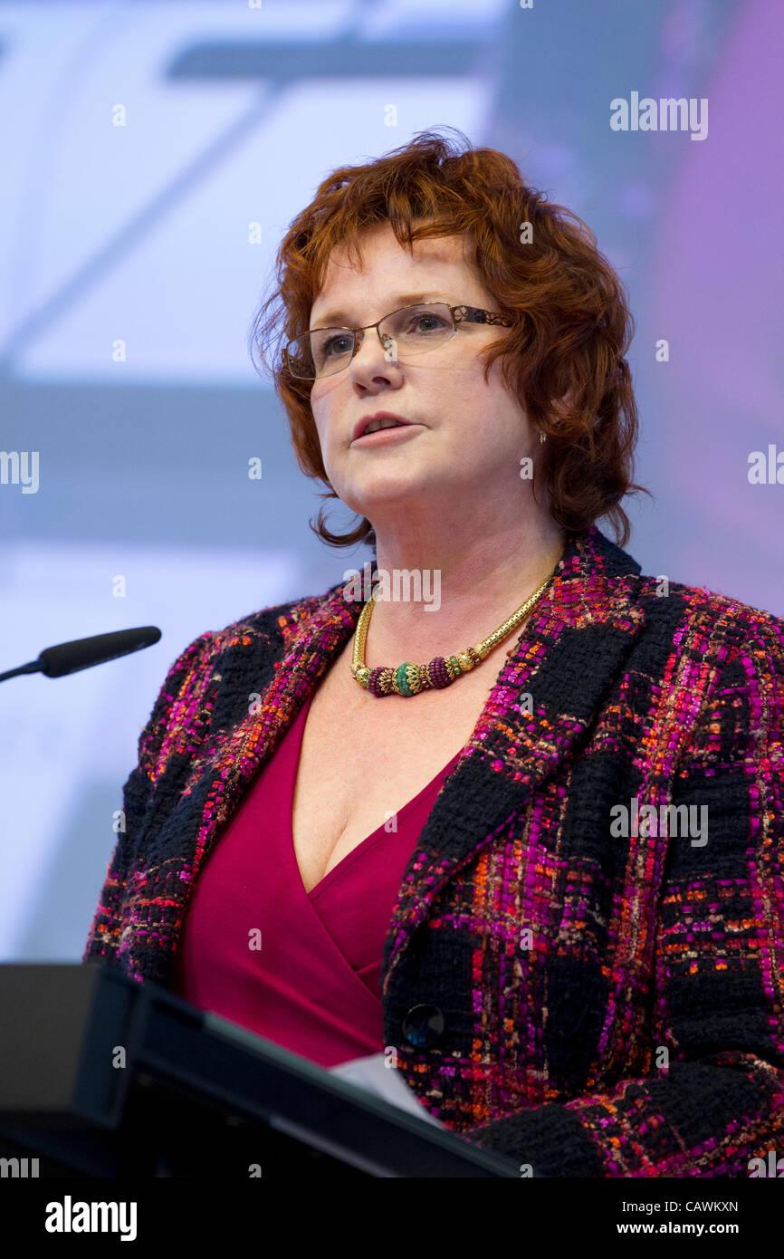 Sharon Bowles, député européen l'Europe économique monétaire Photo Stock