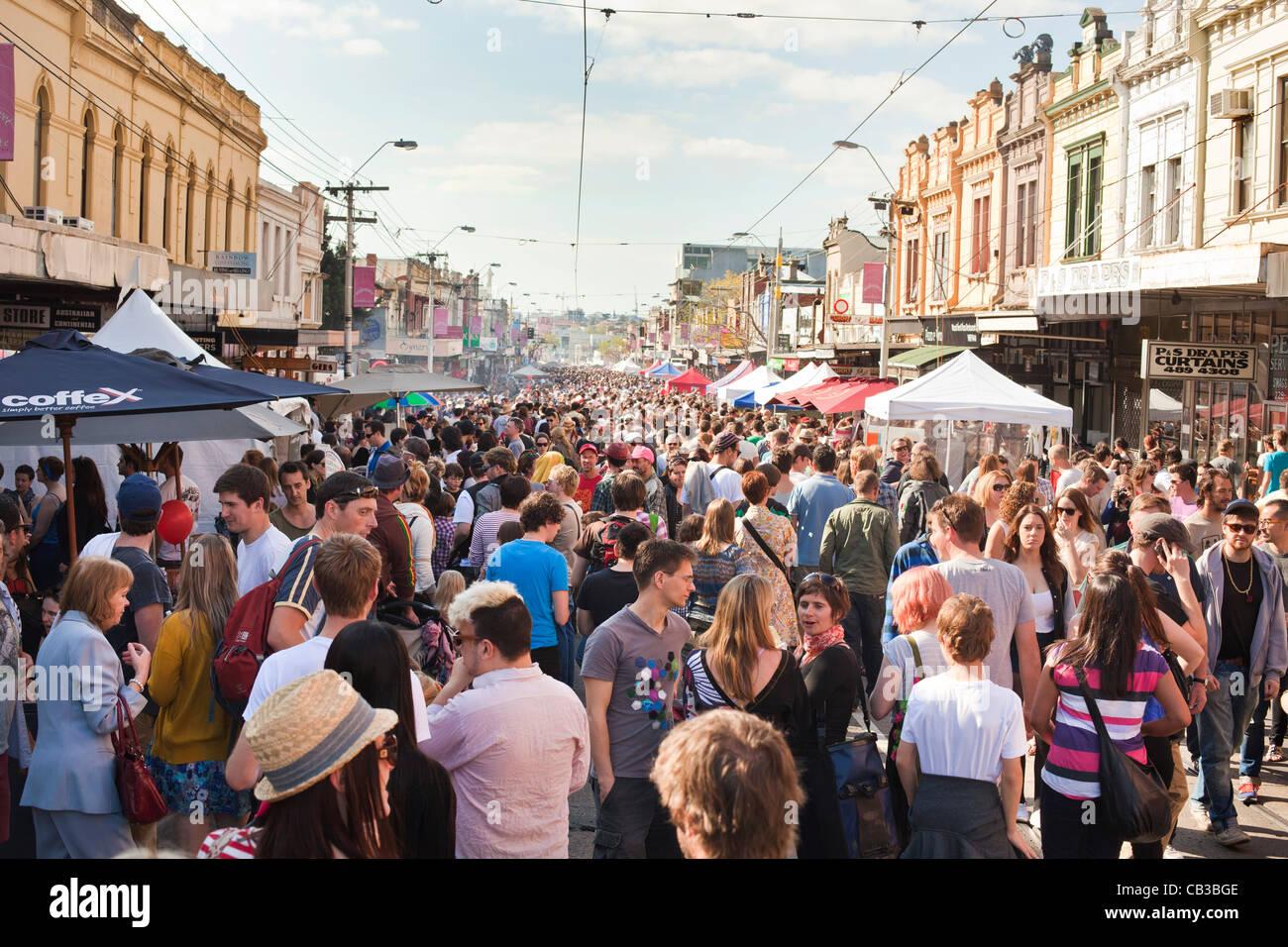 High Noon community festival est un festival de musique local Northcote à Melbourne, Australie Banque D'Images