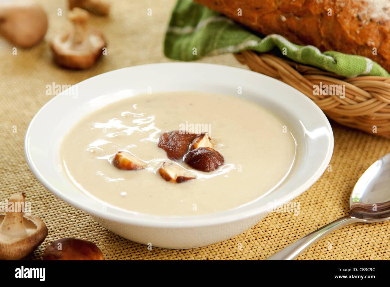 Soupe aux champignons Photo Stock