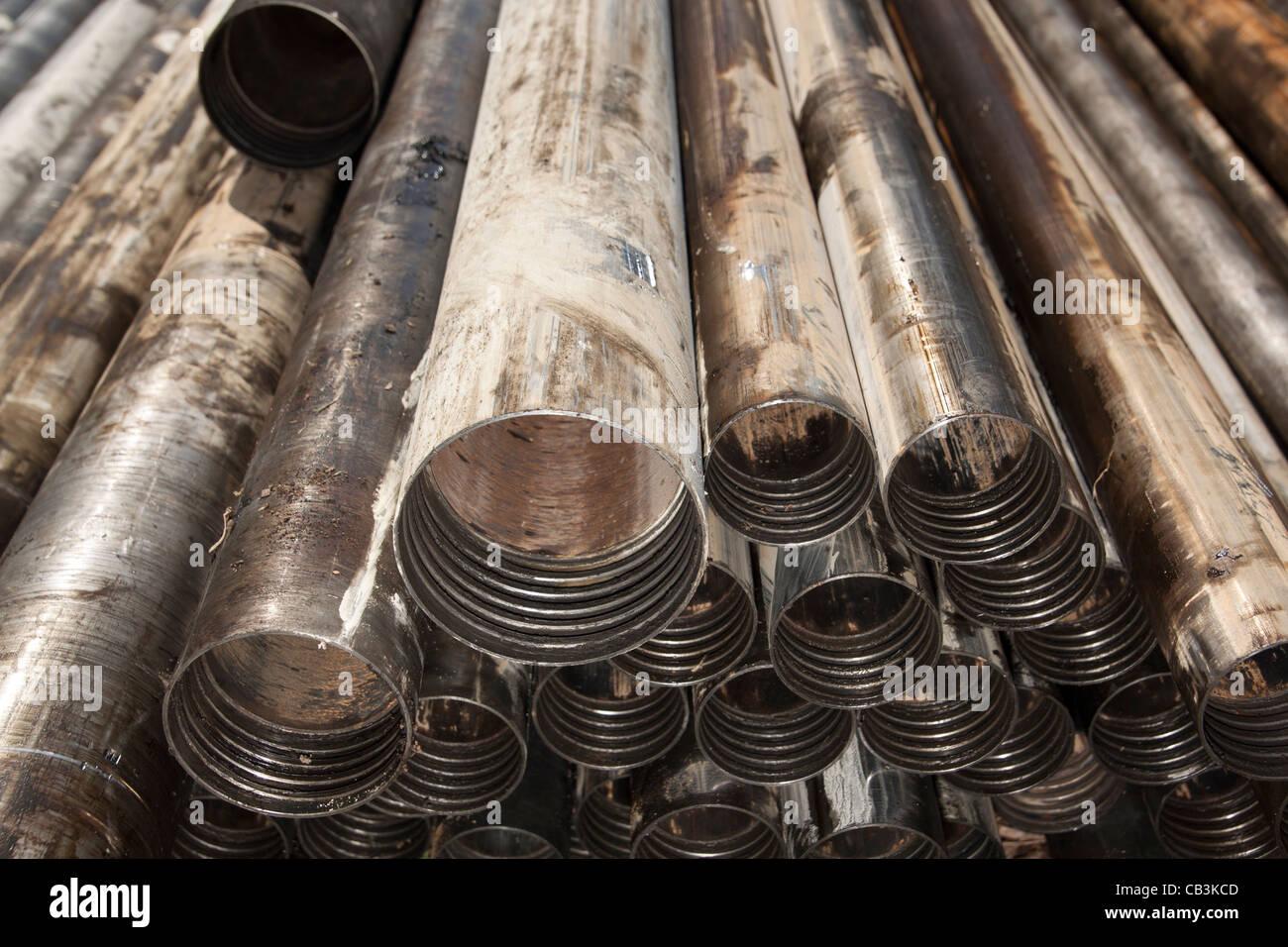 Tiges de forage en différentes tailles AC & NQ Photo Stock