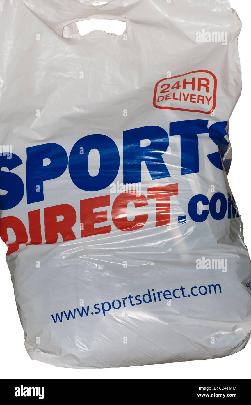 2cedf9df21 Boutique de vêtements de sports sports Direct.Com Sac de plastique  polyéthylène Photo Stock
