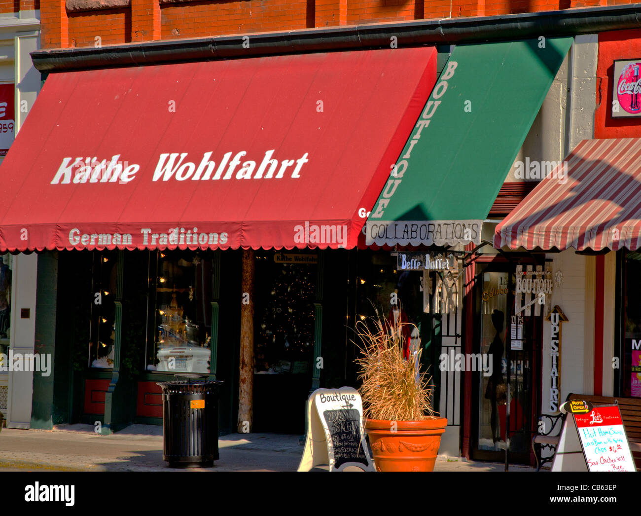 Kathe Wohlfahrt des traditions allemandes shop Stillwater, Minnesota Photo Stock