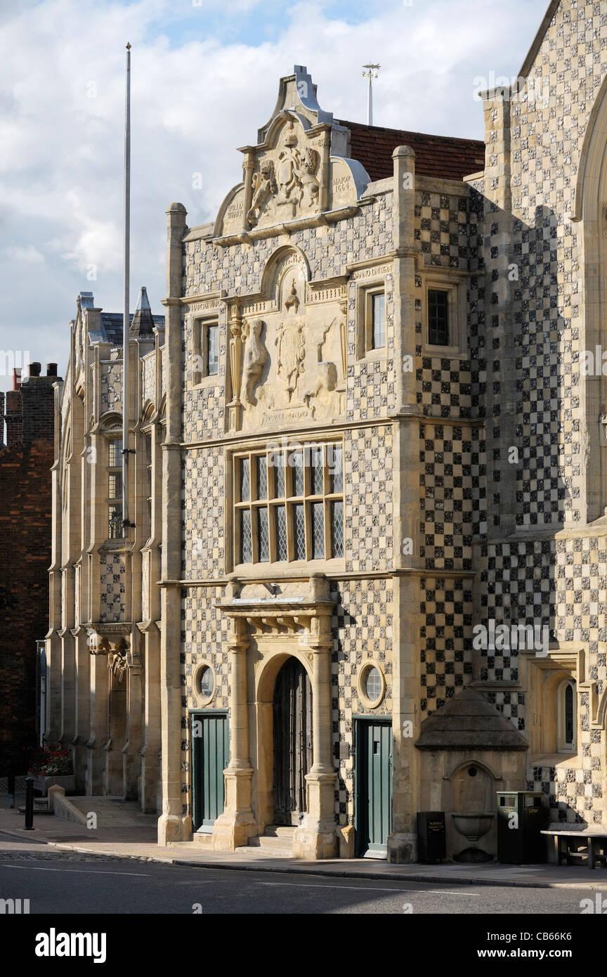 Trinity Guildhall, partie de l'Hôtel de Ville de Kings Lynn, complexe date de 1420s. Norfolk, Angleterre. Photo Stock