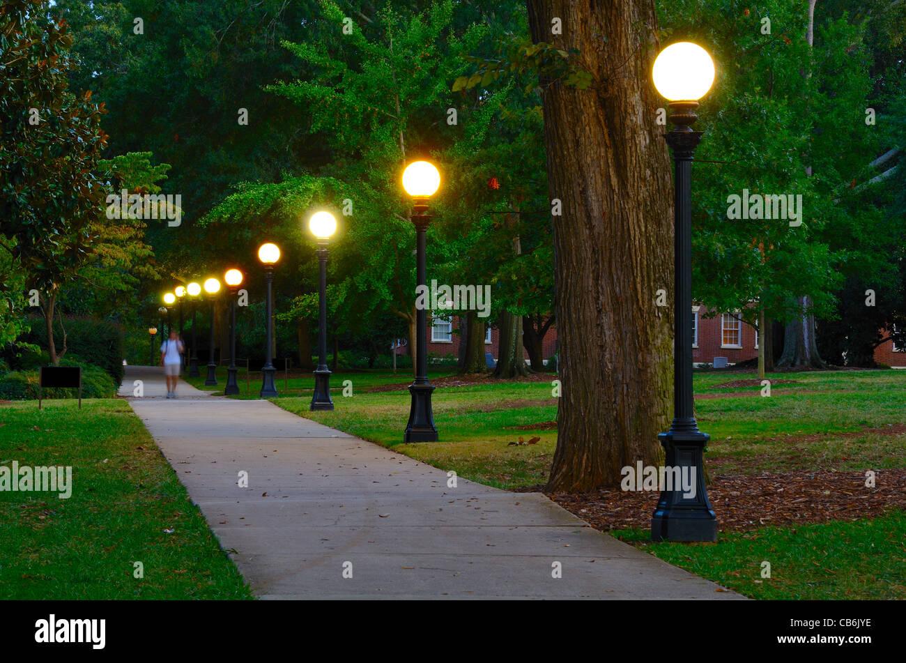 Le campus de l'université de Georgia à Athens, Géorgie. Photo Stock