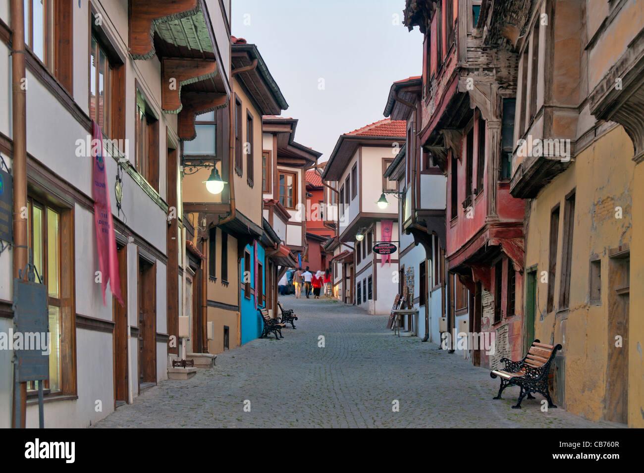 Odunpazarı maisons traditionnelles turques Turquie Eskişehir Photo Stock