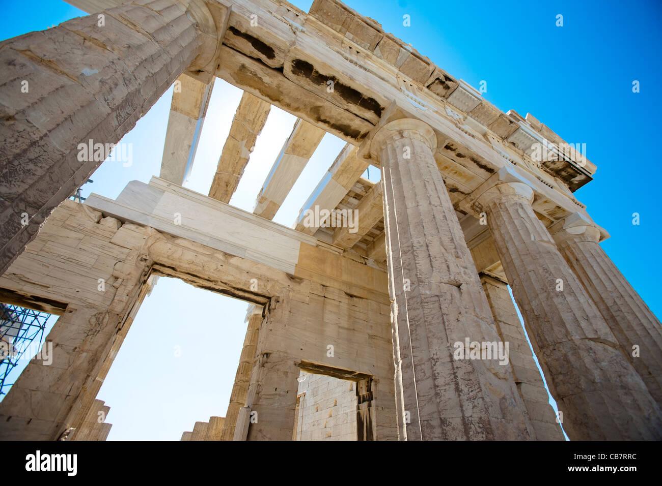 Images de voyage sur la Grèce - la Grèce antique architecture classique Photo Stock