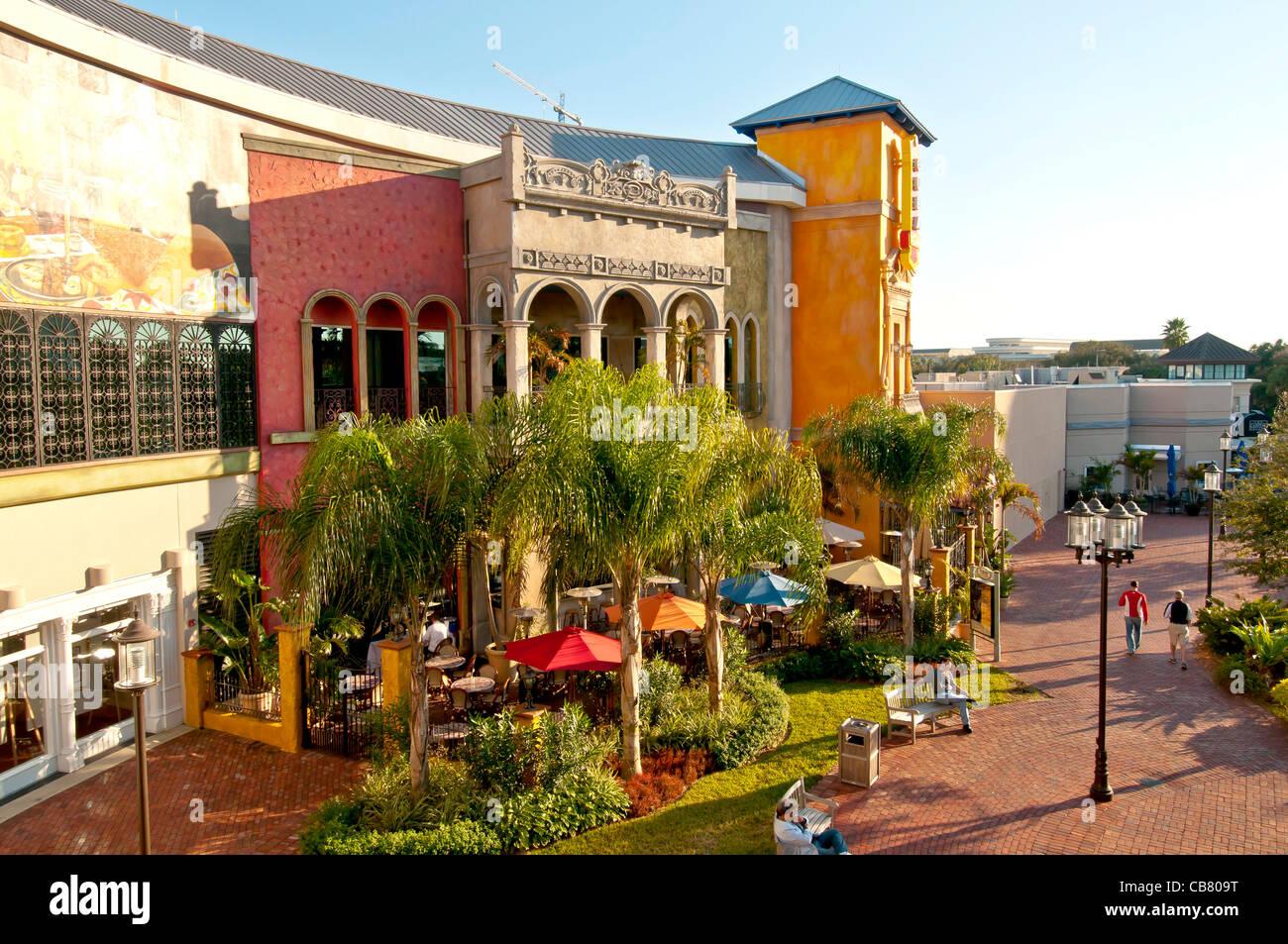 Cuba Libre Restaurant & Bar Rhum outdoor cafe à Pointe Orlando sur International Drive, Orlando en Floride Photo Stock