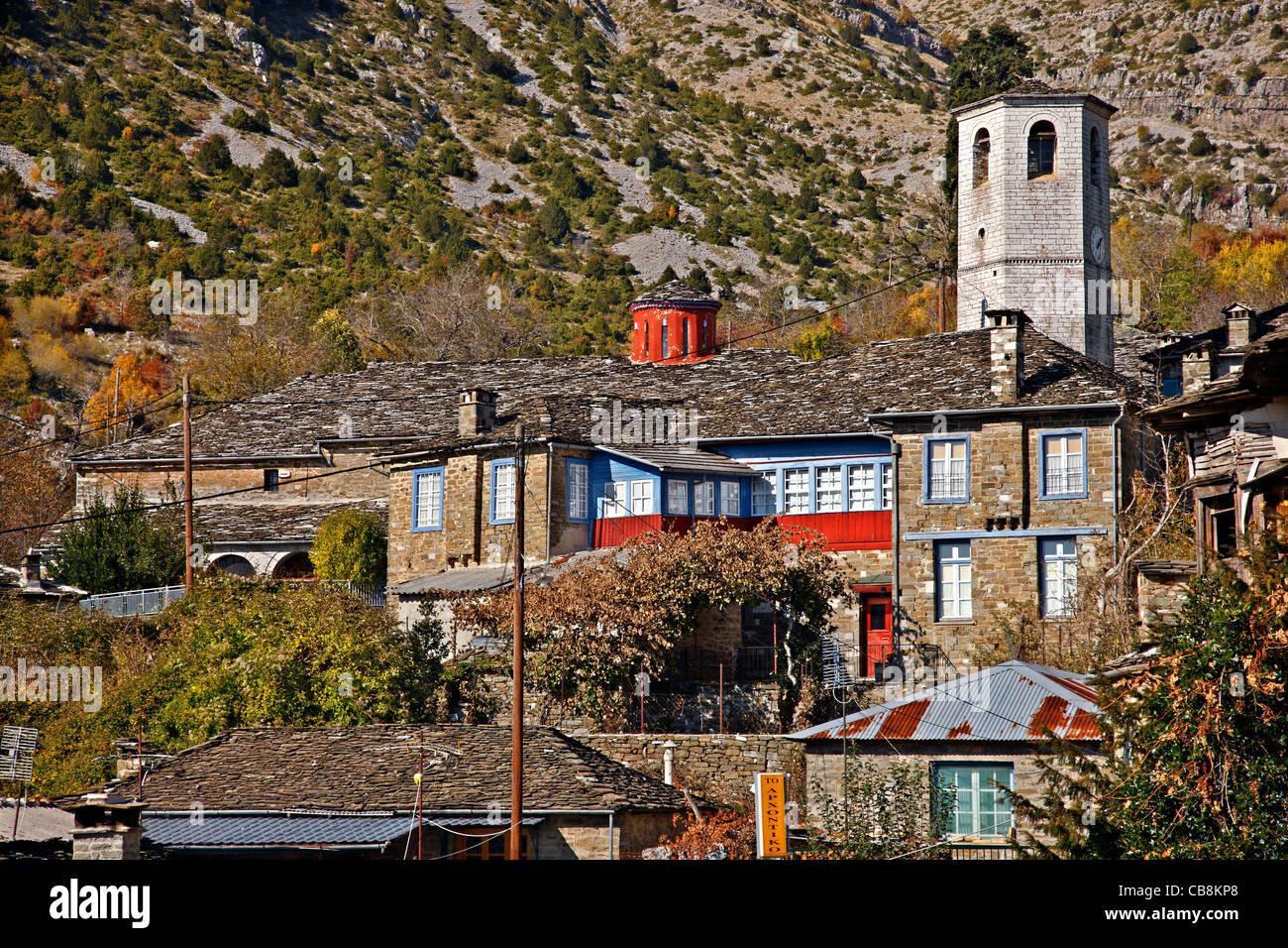 À partir de détails (Tsepolovo village, l'un des plus beaux villages de montagne grecque. Région Photo Stock